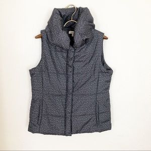 Coldwater Creek Gray Speckled Puffer Vest